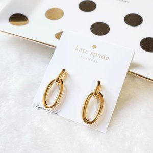 Kate Spade Chain Reaction Link Drop Earrings